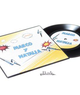 "Invitacion De Boda Disco De Vinilo ""Boom"""