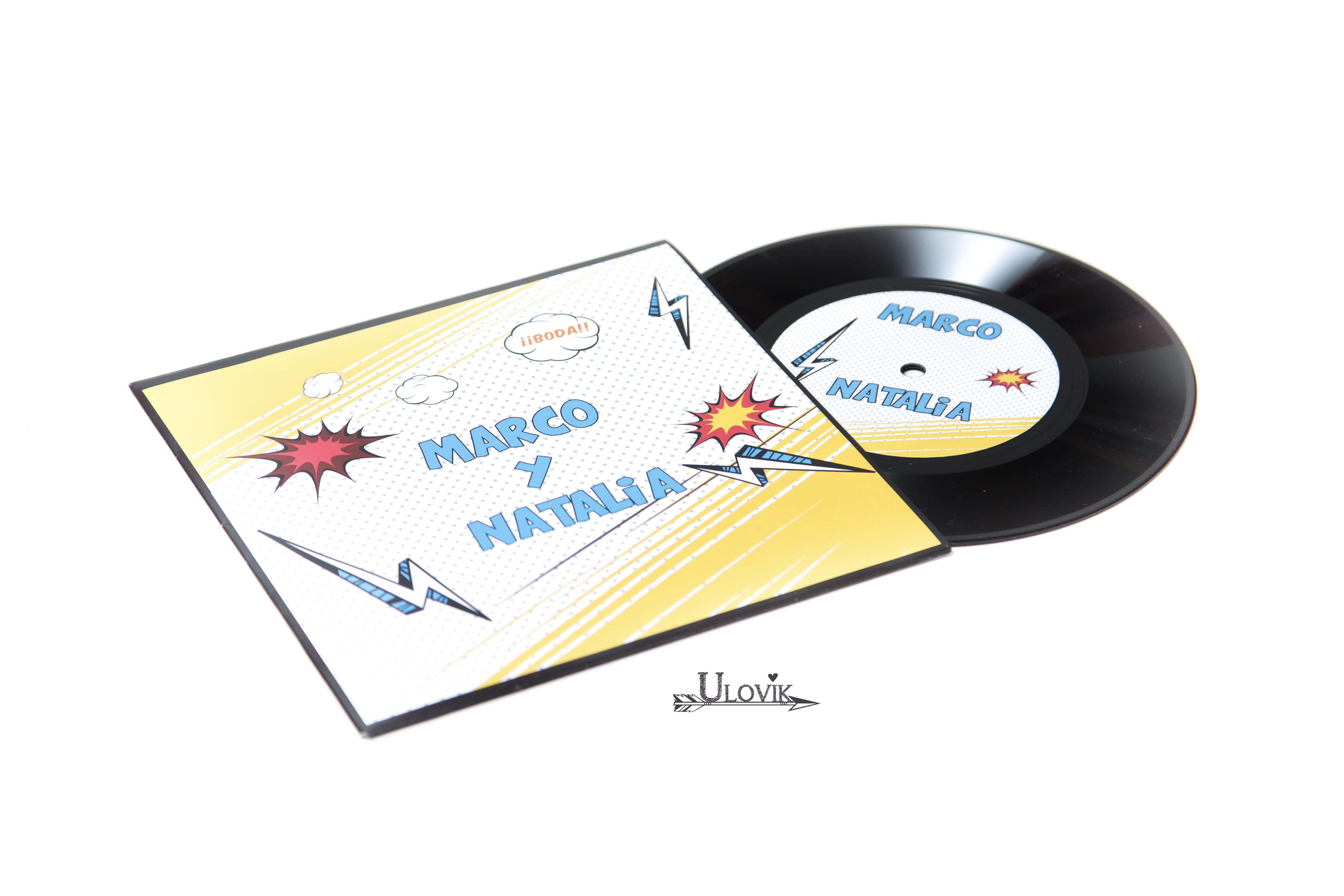 Invitacion de Boda Disco de Vinilo \