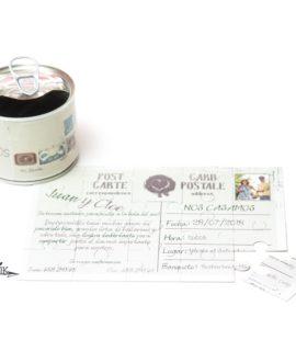 Invitacion De Boda Lata Puzzle «Stamp»