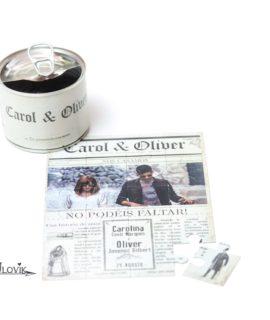 Invitacion De Boda Lata Puzzle «Newspaper»